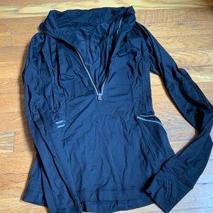Black lululemon half zip long sleeve jacket